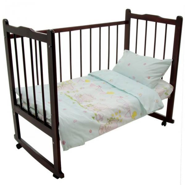 "Детское постельное бельё ""Мишутки"", под.147х112, пр.120х60х19, н.40х60, 4530 02"