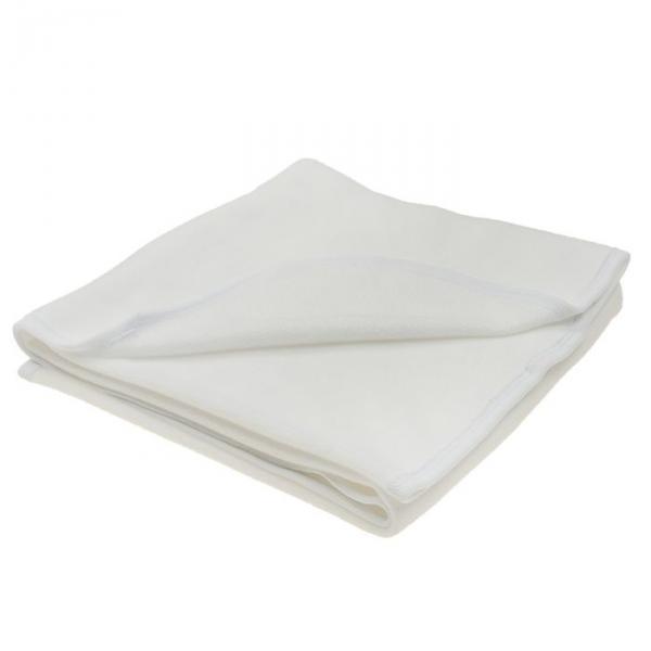 Покрывало (плед) флисовый, размер 95*100 см, цвет белый 20-2ФЛ