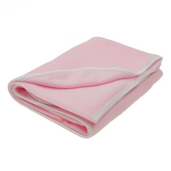 Покрывало (плед) флисовый, размер 95*100 см, цвет розовый 20-2ФЛ