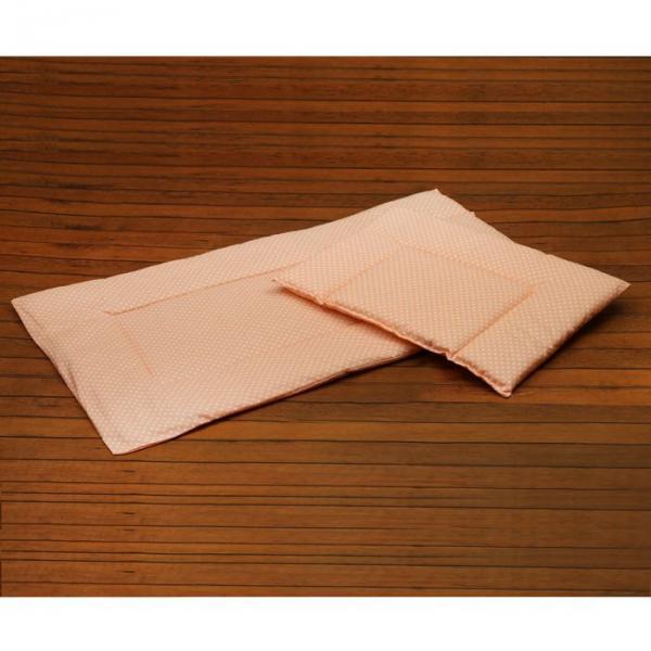 Набор для детской коляски для девочки, 2 предмета (подушка-35х38 см, матрас-69х38 см), цвет розовый (арт. 22101-С)