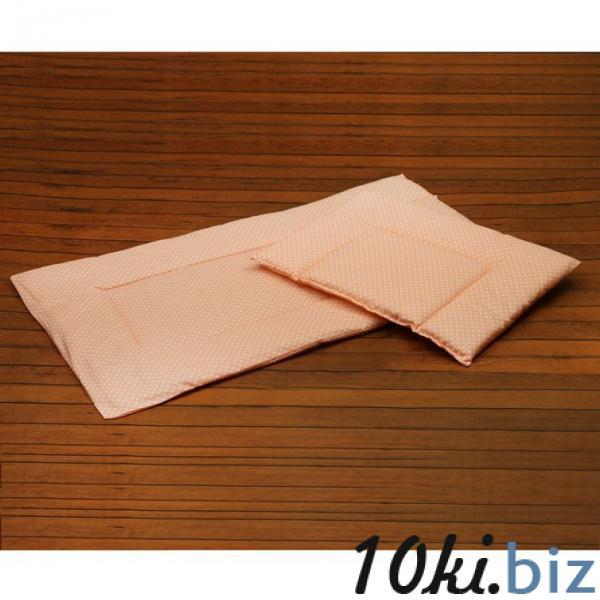 Набор для детской коляски для девочки, 2 предмета (подушка-35х38 см, матрас-69х38 см), цвет розовый (арт. 22101-С) купить в Гродно - Детское постельное белье