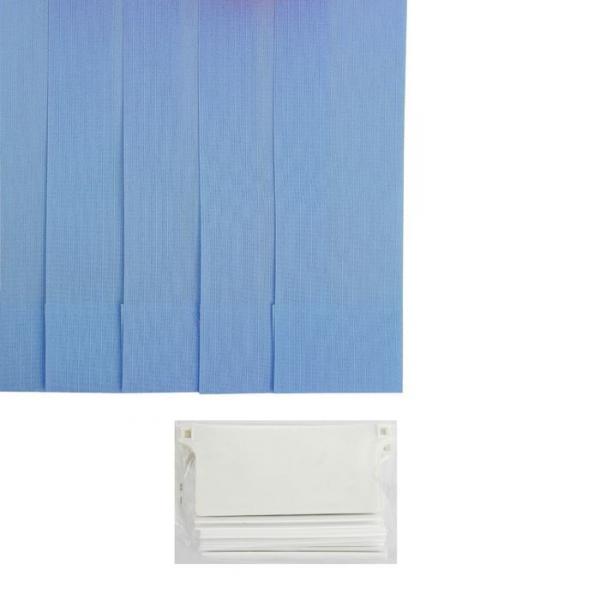 """Набор ламелей 5 шт 180 см """"Вертикальные шторы. Лайн"""", цвет голубой"""