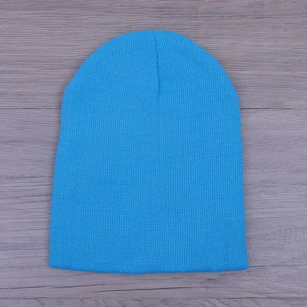 Шапка демисезонная, р-р 56, цвет голубой, акрил 100%