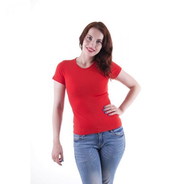 Футболка женская, размер 44-46 (S), цвет красный (арт.VSE25prn)
