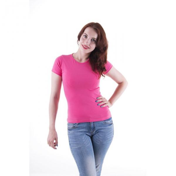 Футболка женская, размер 42-44 (XS), цвет розовый (арт.VSE25prn)