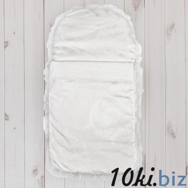 """Конверт на молнии """"Эдельвейс"""", размер 65х35 см, цвет белый 11005 купить в Беларуси - Конверты для новорожденных"""