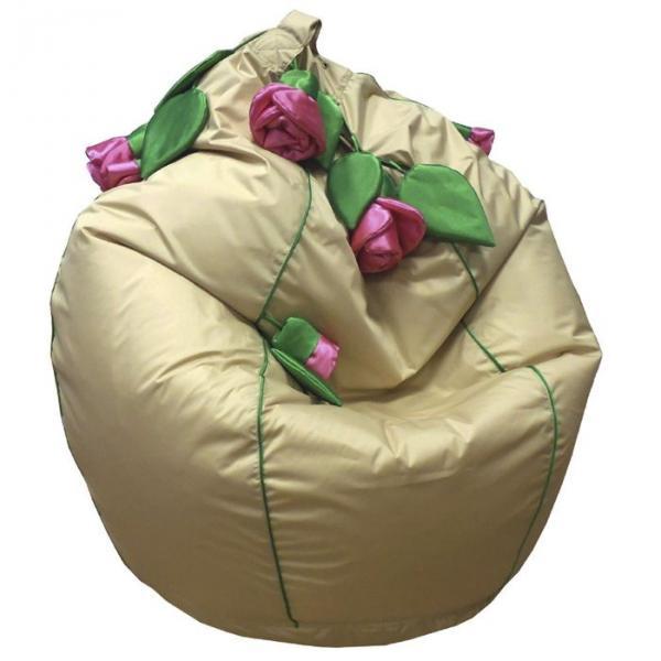 Кресло-мешок Розы, ткань нейлон, цвет бежевый