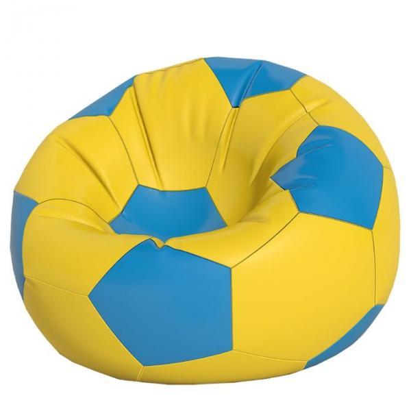 Кресло-мешок Мяч большой, ткань нейлон, цвет желтый, голубой