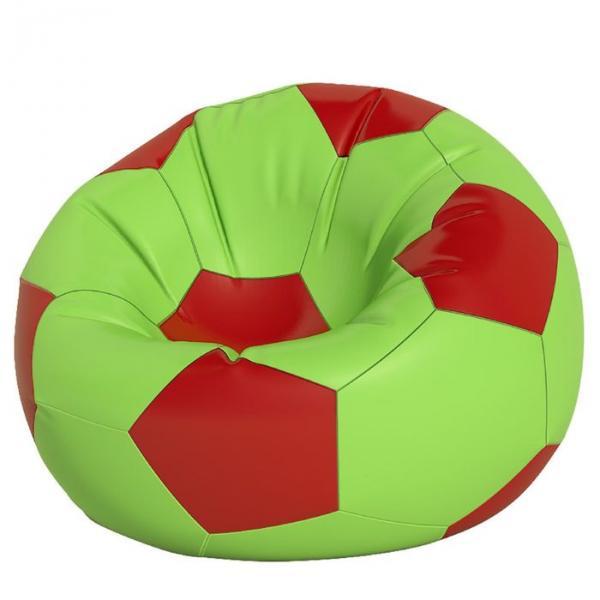 Кресло-мешок Мяч большой, ткань нейлон, цвет салатовый, красный