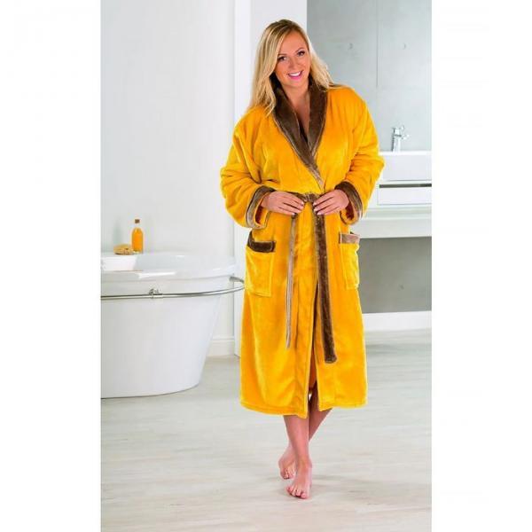 Халат GOEZZE Seiden-Feeling, размер S (44) цвет желтый