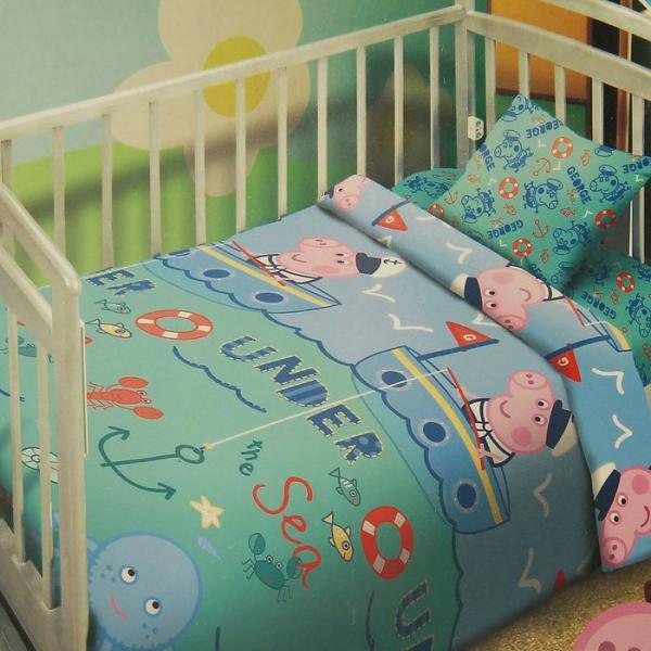 Детское постельное бельё Свинка Пеппа Джордж Рыбак 112*147 110*150 40*60 1 шт. бязь, 120 г/м