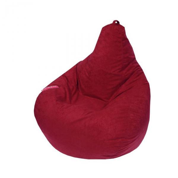 """Кресло-мешок """"Капля S"""", диметр 85 см, высота 130 см, цвет бордовый Aloba"""