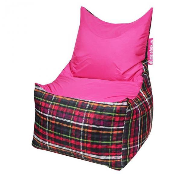 """Кресло-мешок """"Трон"""", ширина 70 см, глубина 70 см, высота 110 см, цвет розовый"""