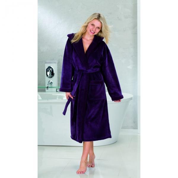 "Халат женский ""SAMT VELOURS"", размер 44, цвет фиолетовый ПГ-08969"