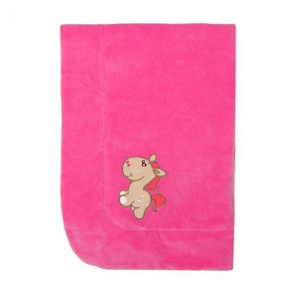 Плед утепленный с вышивкой, размер 90*90 см, цвет розовый 20-3В-В