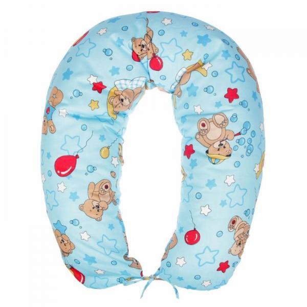 Подушка многофункциональная для беременных и кормящих женщин, цвет голубой «Спящие мишки»