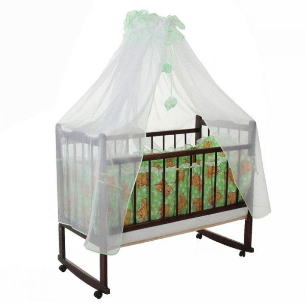Комплект в кроватку (2 предмета), цвет зелёный микс 29.5