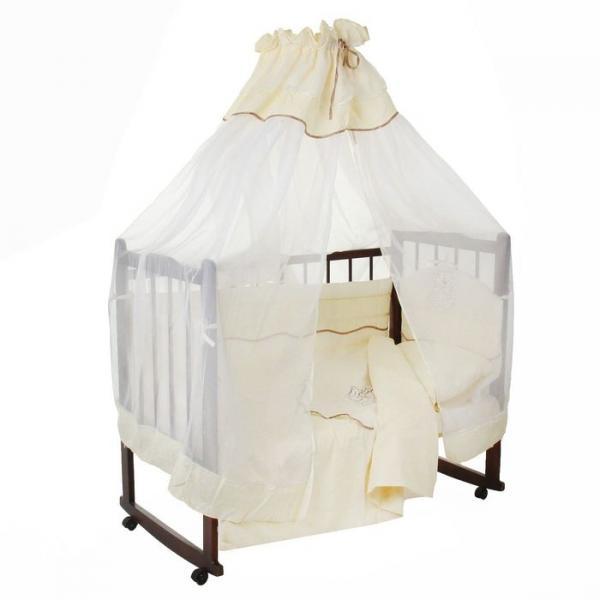 Комплект в кроватку (6 предметов), цвет бежевый 27