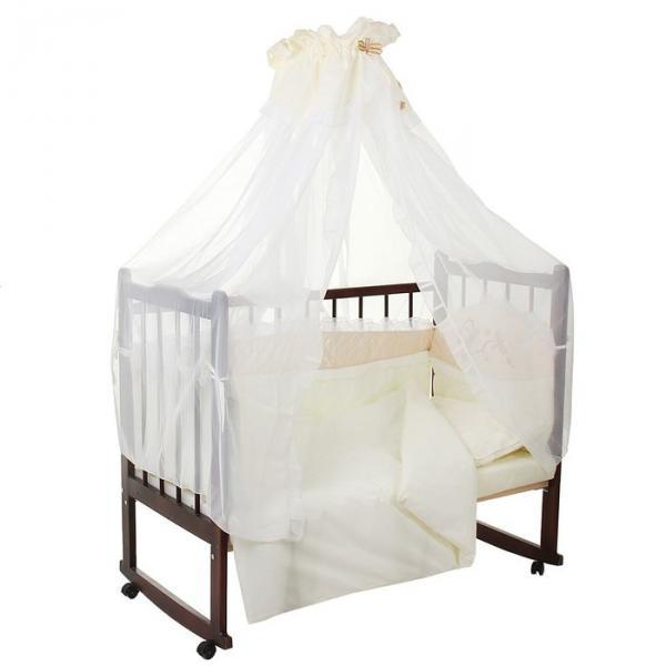 Комплект в кроватку (7 предметов), цвет бежевый 40