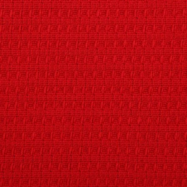 Плед вафельный, размер 110х140 см, 240 гр/м, цвет красный мак