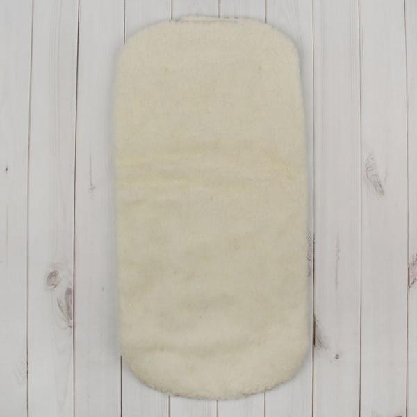 Матрас в коляску меховой, цвет салатовый 1-1МХ