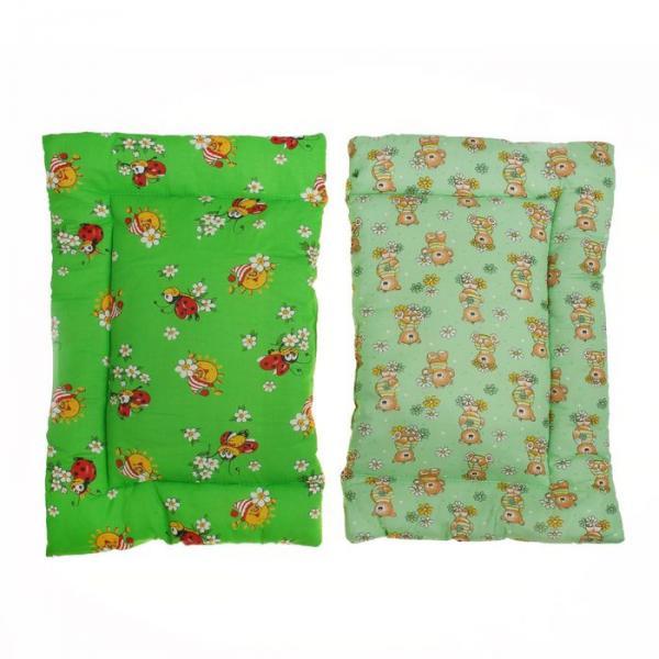 Подушка детская, размер 40*60 см, цвет зелёный 12-3С
