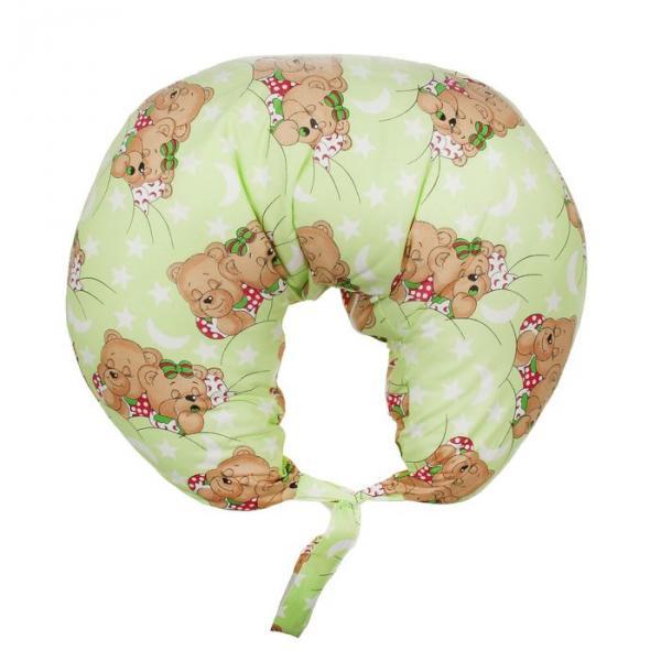 Подушка для кормления с наволочкой, цвет зелёный 12-6 С/Ш-ШТ