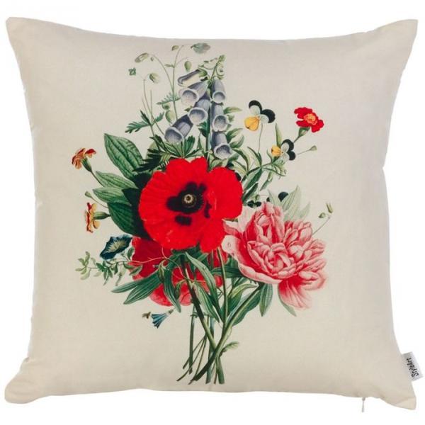 """Чехол для декоративной подушки """"Полевые цветы"""", размер 45х45 см, P302-9971/1"""