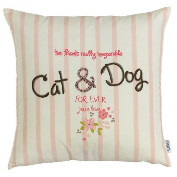 """Чехол для декоративной подушки """"Cats & Dogs"""", размер 45х45 см 302-8984/1"""