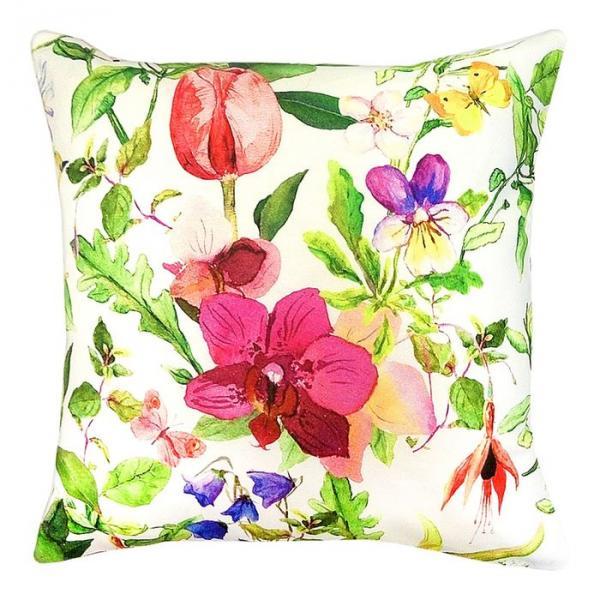 """Чехол для декоративной подушки """"Колибри"""", размер 43х43 см, цвет мультиколор P702-1834/1"""