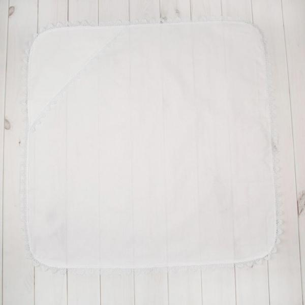 Простынка для крещения, размер 78*78 см, цвет белый 00102-08