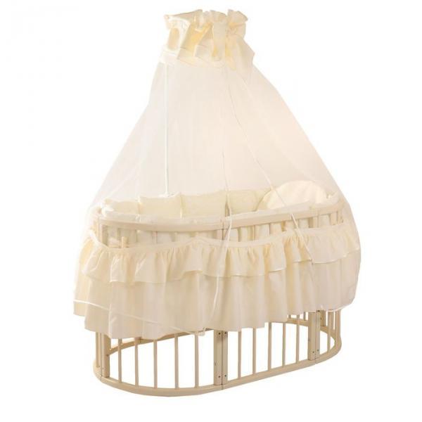 Комплект на круглую кроватку (10 предметов), цвет молочный 321