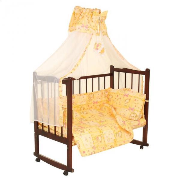 Комплект в кроватку (7 предметов), цвет бежевый микс 24.5