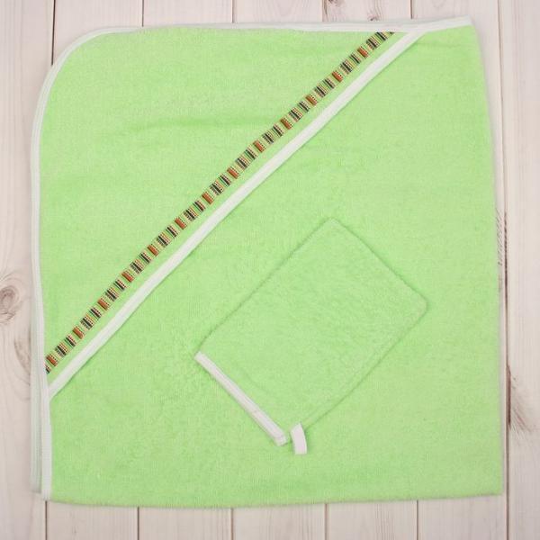 Комплект для купания (2 предмета), размер 100*100 см, цвет зелёный М.711