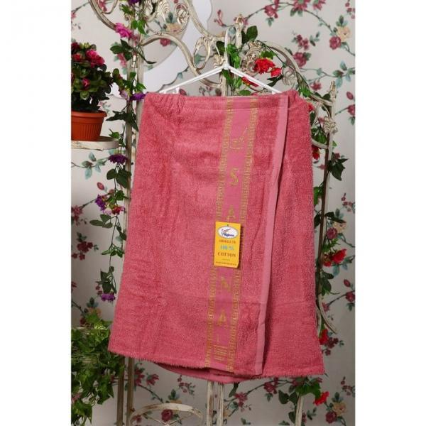 Накидка махровая на липучке «Элитная», цвет пыльная роза, размер 67х104 см