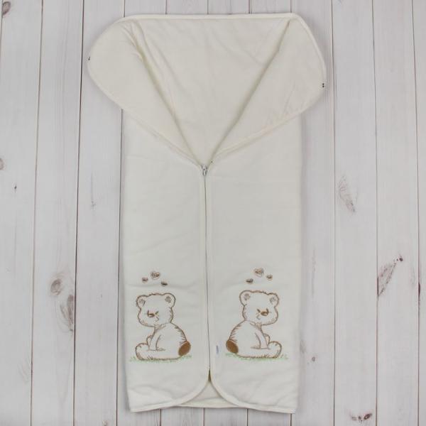 Конверт-одеяло на молнии, размер 82*92 см, цвет розовый/экрю 53-150