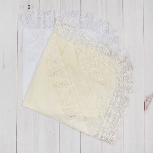 Уголок на выписку, размер 75*75 см, цвет белый/экрю 1223