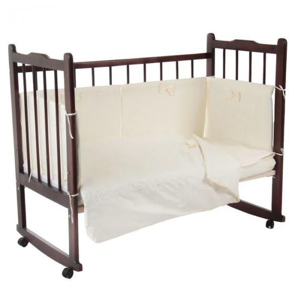 """Комплект в кроватку """"Наше счастье"""" (6 предметов), цвет молочный 10625"""