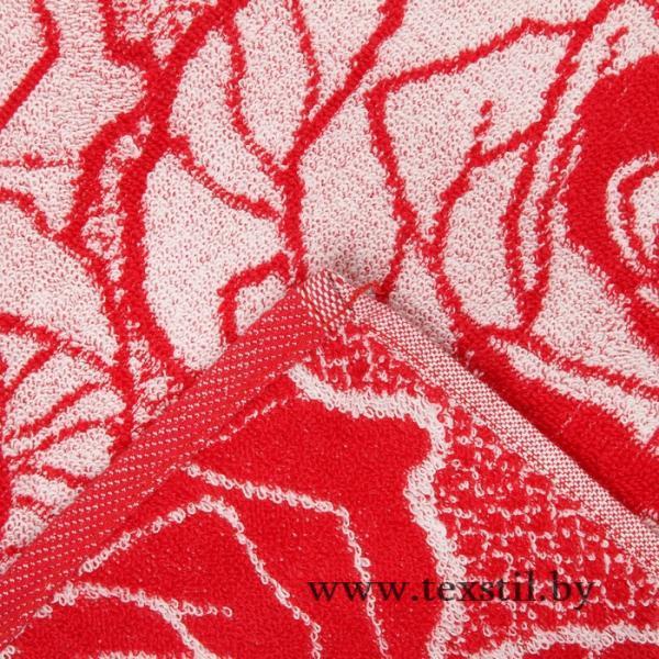 Фото Текстиль, Текстиль для ванной, Полотенца Полотенце махровое Авангард 70x140 см, 4378, Розы в сердцах МИКС, хлопок, 420 гр/м2