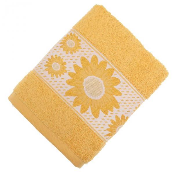 Полотенце махровое TWO DOLPHINS KARDELEN 70*140 см жёлтый, хлопок, 460 гр/м