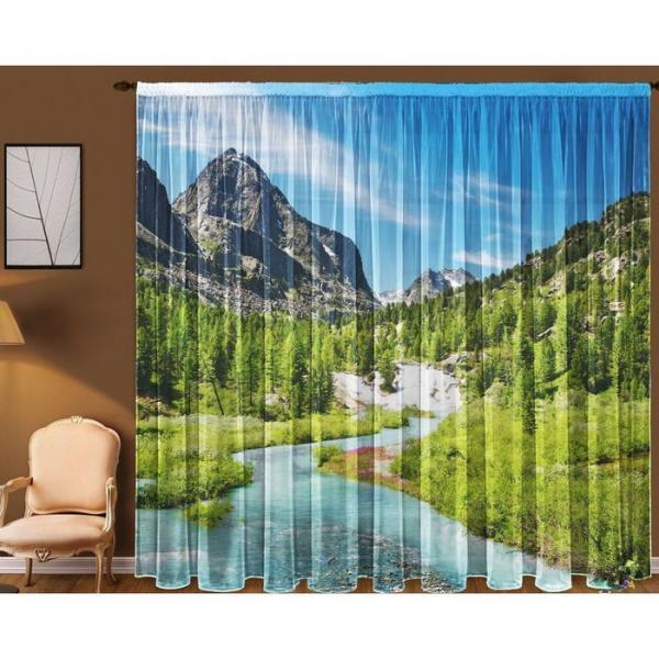 """Тюль """"Долина"""" (290x270 см)+/- 3 см, (2 полотна на общей шторной ленте), шифон, 100% полиэстер"""