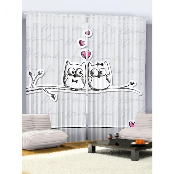 Комплект фотоштор Magic Lady «Встреча влюблённой пары», 145х265 см - 2 шт, п/э 100%