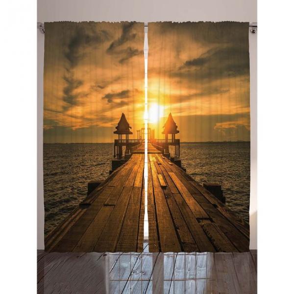 Комплект фотоштор Magic Lady «Солнечный день художника», 145х265 см - 2 шт, п/э 100%