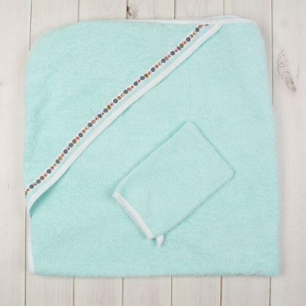Комплект для купания (2 предмета), размер 100*100 см, цвет бирюзовый М.711