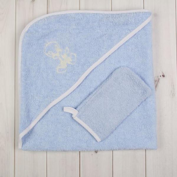 Комплект для купания (2 предмета), размер 80*80 см, цвет голубой М.712