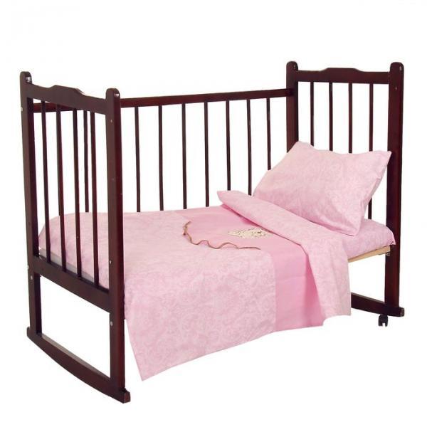 Комплект постельного белья (3 предмета), цвет розовый 07.27