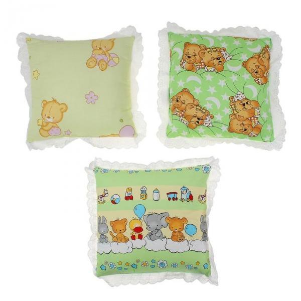 Подушка, размер 35*35 см, цвет зелёный микс 09.1ш