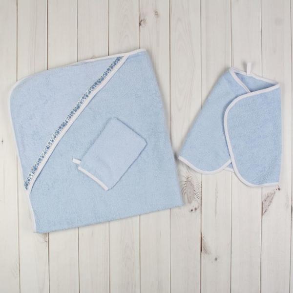 Комплект для купания (3 предмета), цвет голубой 715