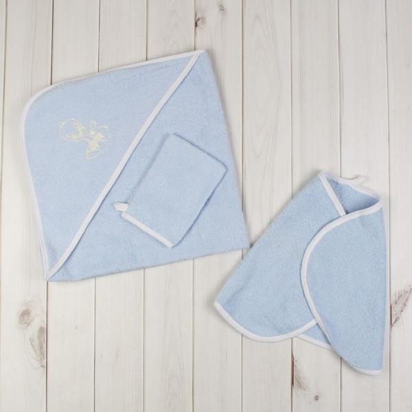 Комплект для купания (3 предмета), цвет голубой 716