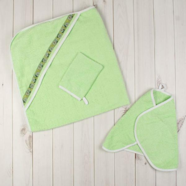 Комплект для купания (3 предмета), цвет зелёный 717